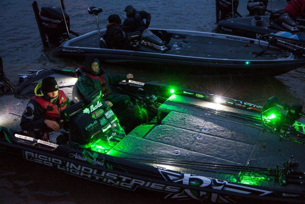 bass boat ligh up