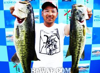 琵琶湖バスフィッシングガイドリポート ~森様~ 50cm x 56cm