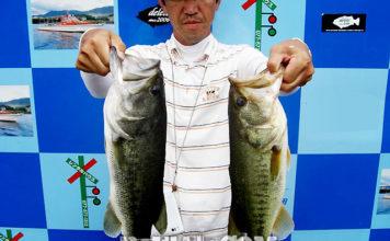 琵琶湖バスフィッシングガイドリポート ~上杉様~ 49cm 45