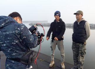霞ヶ浦水系岸釣りセッション撮影中!! (ジャッカル)