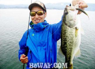 琵琶湖バスフィッシングガイドリポート ~竹中様~ 44cm