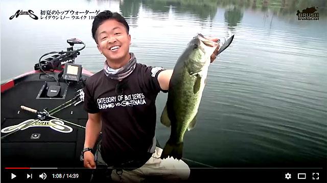 レイダウンミノー ウェイクの実釣動画!! (諸富真二) 3
