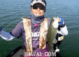 琵琶湖バスフィッシングガイドリポート ~たいがーーー様~ 36cm