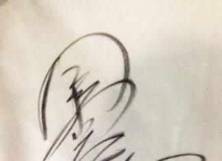 今江克隆プロのサイン!!