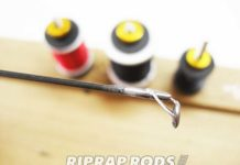 テムジン スカイスクレイパー のトップガイド修理交換 ガイド装着写真