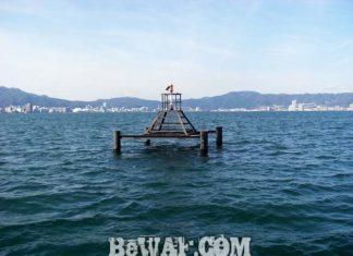 琵琶湖へ (2017年 2月27日) 湖上調査へ