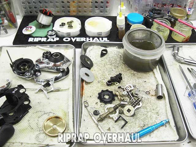 シマノ 06 アンタレスDC オーバーホール修理写真