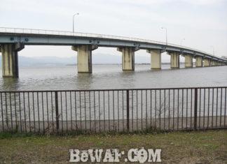 琵琶湖おかっぱりへ (2018年4月12日) 人工島周辺は濁りが発生