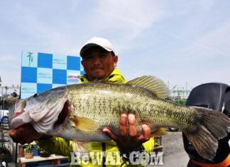 琵琶湖へ (4月22日) プリスポーンダイナマイト 62cm!!