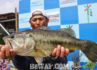 琵琶湖へ (2018年 4月4日) フラップクローで55cm