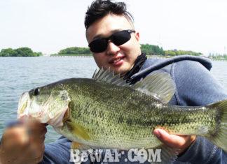 琵琶湖バスフィッシングガイドリポート~庄田様~ 44cm