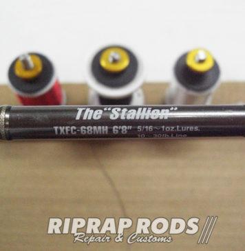 """エバーグリーン The Stallion TXFC-68MH 6'8"""" ロッド修理値段 写真"""