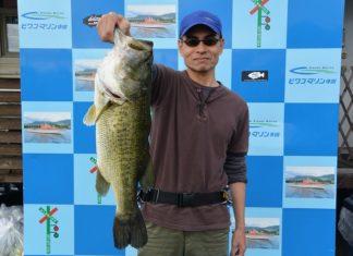 tweet釣果:トップでボカ~ン!! 61cm!! (琵琶湖)
