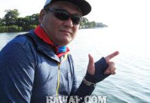 琵琶湖ガイド日記 難しいオーバーヘッドキャスト写真