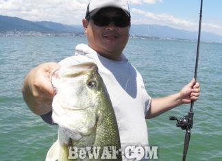 琵琶湖バスフィッシングガイドリポート ~物部様~ 52cm