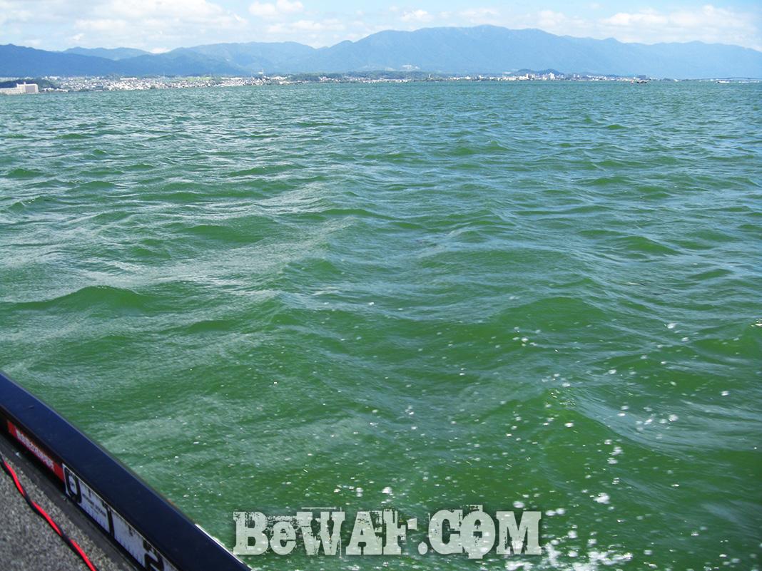 気になる台風12号通過後の琵琶湖 写真