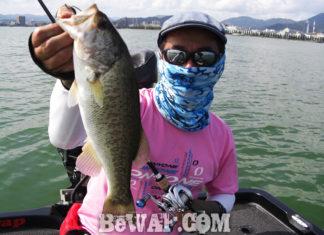 琵琶湖バスフィッシングガイドリポート ~今野様~ 38cm
