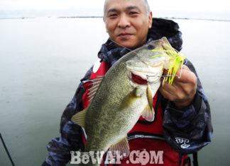 琵琶湖バスフィッシングガイドリポート ~村松様~ 38cm