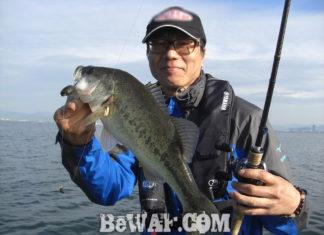 琵琶湖バスフィッシングガイドリポート~島田様~ 43cm