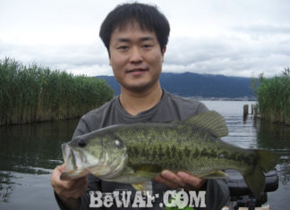 琵琶湖バスフィッシングガイドリポート ~水田様~ 45cm