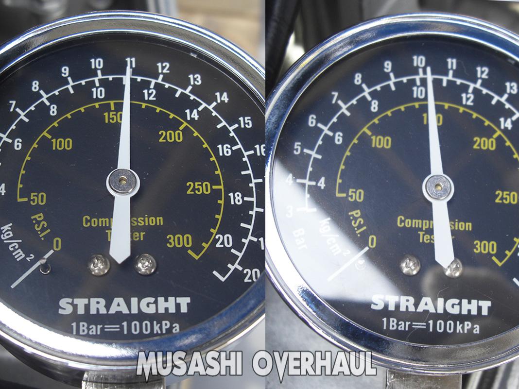ホンダ スズキ ヤマハ 船外機 シリンダー圧縮 オイル圧力 測定 数字