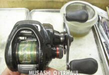 シマノ 17スコーピオンDC 100 H オーバーホール修理改造写真