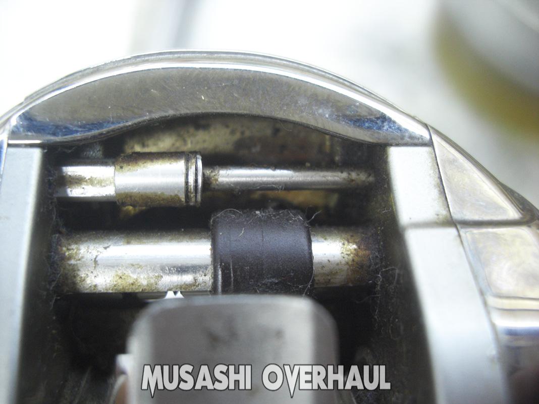 シマノ 98アンタレス 初期型オーバーホール 修理写真