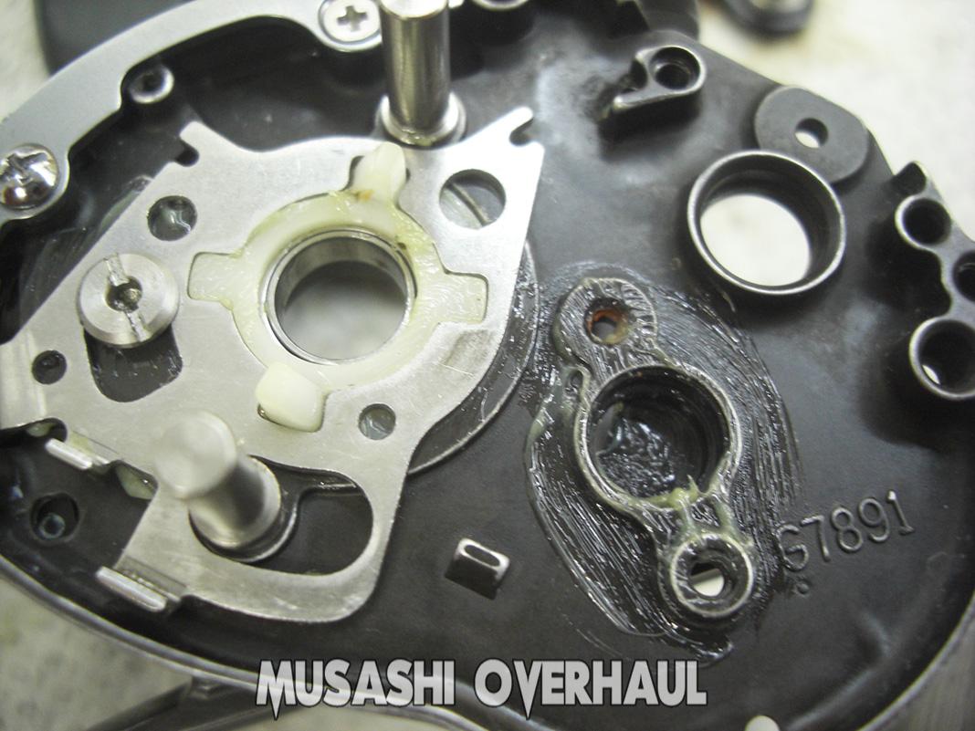 ダイワ デプス ZDV-100H 分解メンテナンス写真