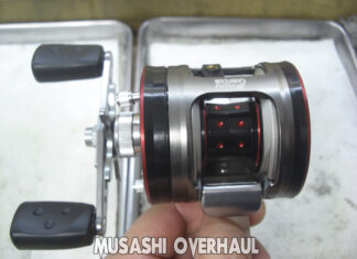 アブガルシア アンバサダー モラム ZX3600 IVCB-4 オーバーホール写真