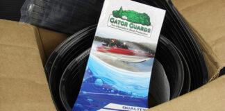 ボートキールガイド装着 バスボート写真