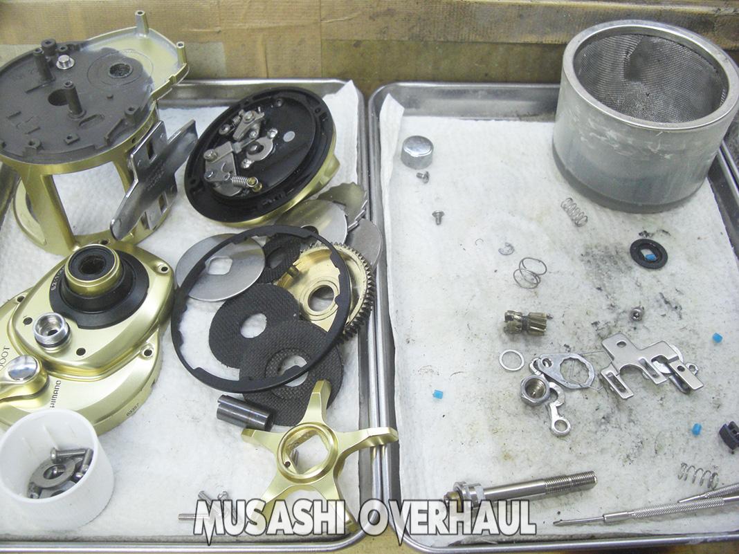 シマノ 15 海魂 3000T オーバーホール修理メンテナンス 写真
