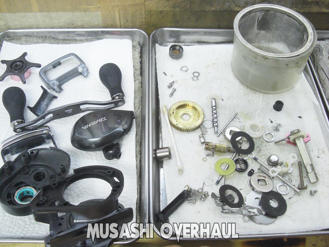 ダイワ 紅牙 KOHGA ICS103 オーバーホールメンテナンス修理写真